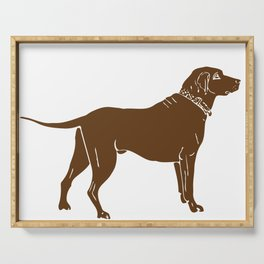 Chocolate Lab Serving Tray