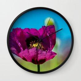The beauty of purple Wall Clock