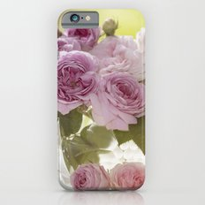 Wonderful English Roses in a crystal bowl- Rose-Flowers- Slim Case iPhone 6s
