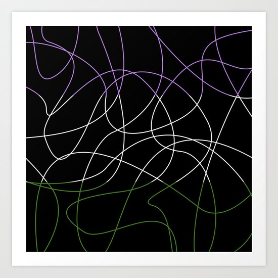 Abstract Threads – Genderqueer Pride Flag by stephobrien