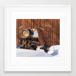 Old Motocyle Framed Art Print