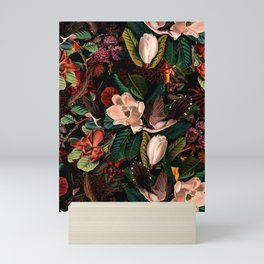 FLORAL AND BIRDS XIV Mini Art Print