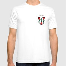 Rose Vibes White Mens Fitted Tee 2X-LARGE