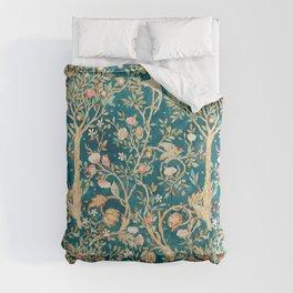 William Morris Vintage Melsetter Teal Blue Green Floral Art Comforters