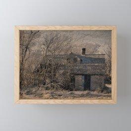 An Old Abandoned Farmstead. Framed Mini Art Print