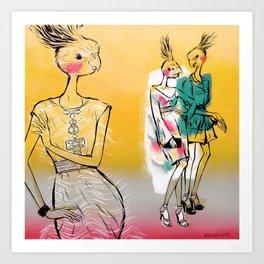Fashion Birds Art Print