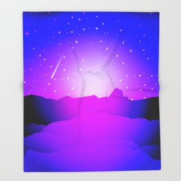 Purple Night Throw Blanket