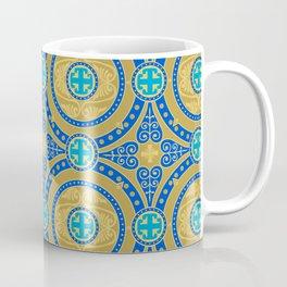 Seamless pattern of gold arabesques. Patterns. Coffee Mug