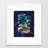 threadless Framed Art Prints featuring Leptocephalus by Alice X. Zhang