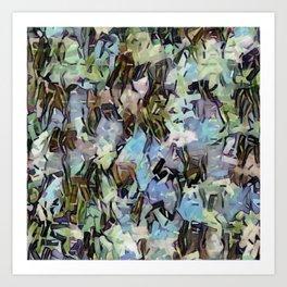 Abstract Confetti Landscape Art Print
