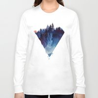 pop Long Sleeve T-shirts featuring Near to the edge by Robert Farkas