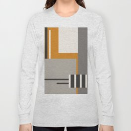 PLUGGED INTO LIFE (abstract geometric) Long Sleeve T-shirt