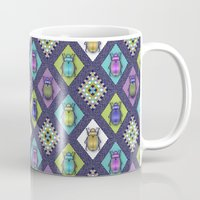 quilt Mugs featuring Scarabs Quilt by Vannina