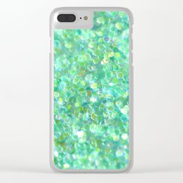 Ocean Mint Clear iPhone Case
