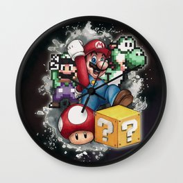 Mario et ses amis Wall Clock