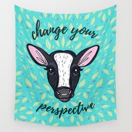 Change Your Perspective White Blaze Wall Tapestry