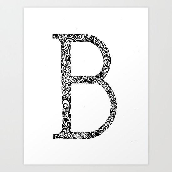 B-) Art Print