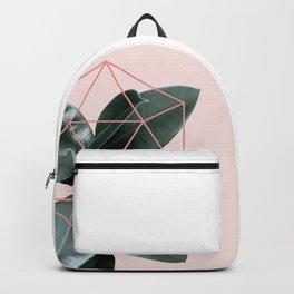 Geometric greenery III Backpack