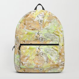 Early autumn in watercolor. Backpack