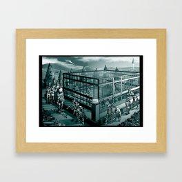 People In Glass Houses Framed Art Print