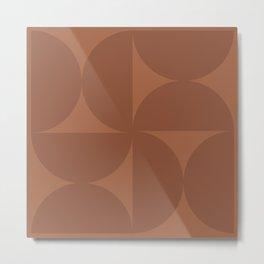 Monochromatic Minimalism - Red Metal Print