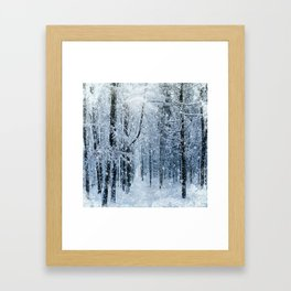 Winter wonderland scenery forest  Framed Art Print