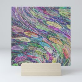 Rainbow cell vortex Mini Art Print