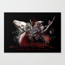 Whale SOS- dark side Canvas Print