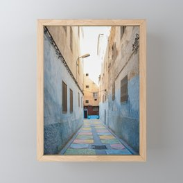 Maroccan Alleys. Fes, Marocco. Fine Art Travel Print. Colourful Wall Art. Framed Mini Art Print