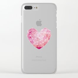 Heart No.1 Clear iPhone Case