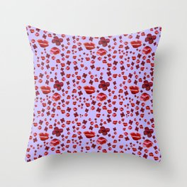 Red and purple Poppies Throw Pillow