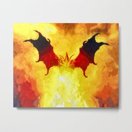 Dragon Breath Into the Flames Metal Print