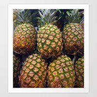 pineapples Art Prints featuring Pineapples by UMe Images