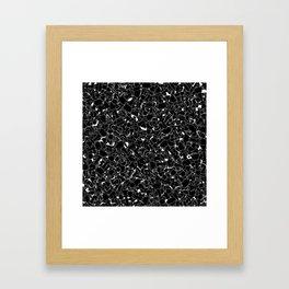 Chess Pattern BLACK Framed Art Print