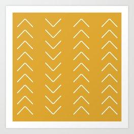 V / Yellow Art Print
