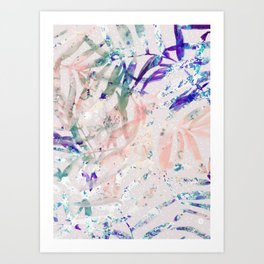Abstract colorful plant Art Print