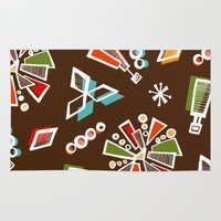solar system Area & Throw Rugs featuring Solar System by Holly Helgeson