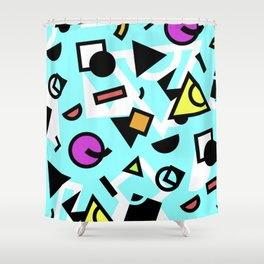 Funky shapes Shower Curtain