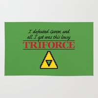 triforce Area & Throw Rugs featuring Lousy Triforce by Mike Handy Art