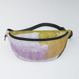 BLUE MOON ON YELLOW GOLD 01 Fanny Pack