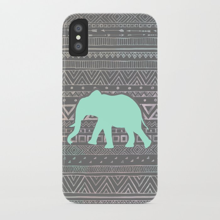 Mint Elephant  iPhone Case