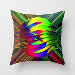 Einstein's Rainbow Throw Pillow