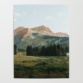 Pink Mountain Spine in Crested Butte Poster