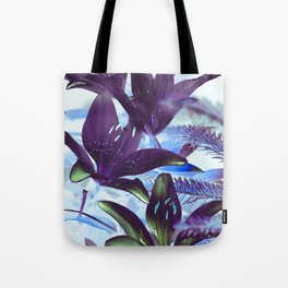 Moonlight Lillies Tote Bag