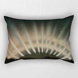 Aurora Borealis from the Trouvelotastronomical drawings (1881-1882) by E L Trouvelot (1827-1895) Rectangular Pillow