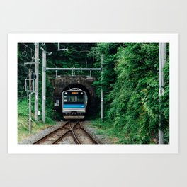 Tunnel Train Art Print