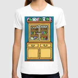kitchen cupboard art, kitchen cupboard, drawings kitchen decor, T-shirt