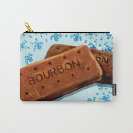 Bourbon biscuits on a plate for tea time Carry-All Pouch