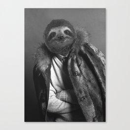 Model Sloth Canvas Print