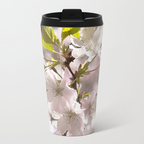 Tender Blossoms Metal Travel Mug